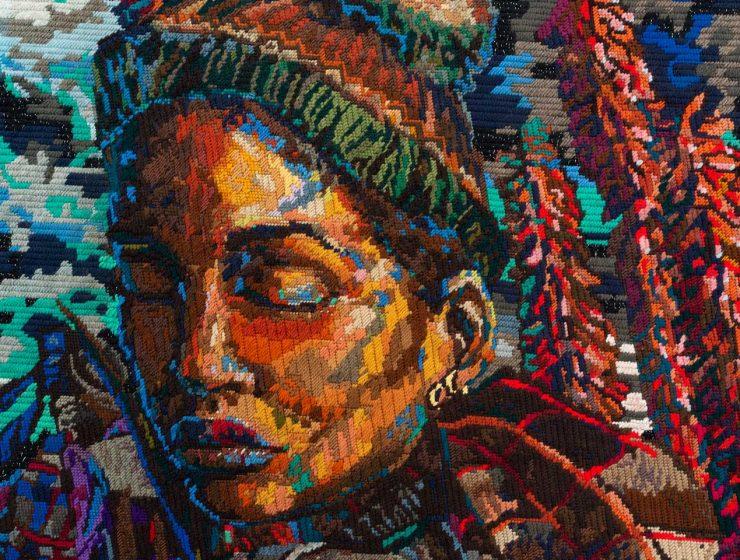 Athi-Patra Ruga, 'Inyanga Yekhala', 2020, Wool and thread on tapestry canvas via whatiftheworld.com