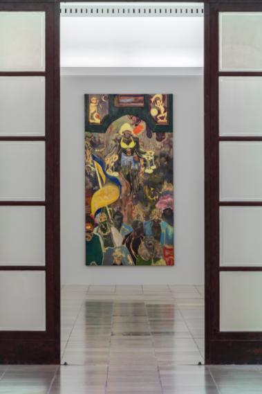 "Installation View: Michael Armitage,""Paradise Edict"", 2020 at Haus der Kunst. Courtesy of Haus der Kunst"
