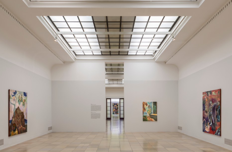 "Installation View: Michael Armitage. ,""Paradise Edict"", 2020 at Haus der Kunst. Courtesy of Haus der Kunst"