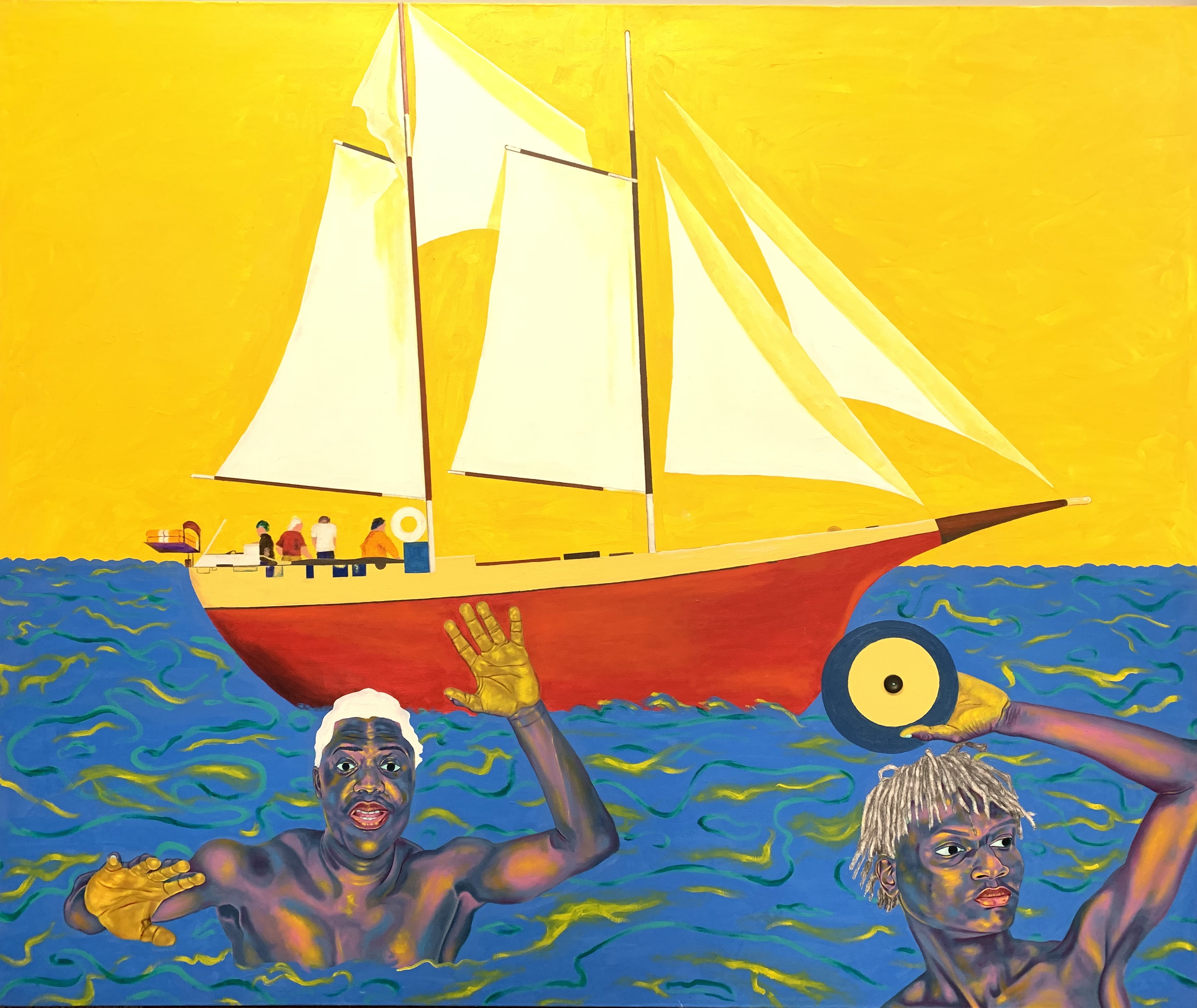 """Work by Chukwudubem Ukaigwe in """"There, Here, Nowhere: Dwelling at the Edge of the World"""",."""