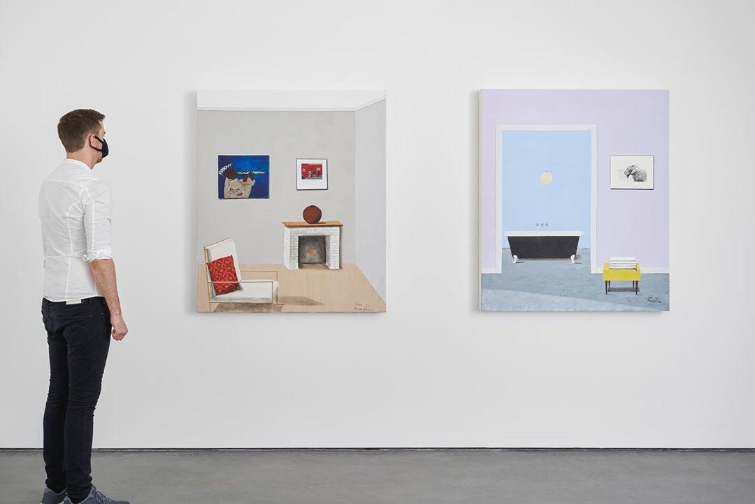 Installation View: Sam Nhlengethewa, 'Interiors Continued', 2020, via goodman-gallery.com