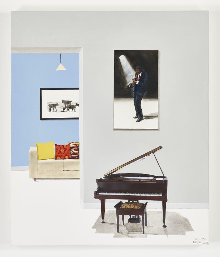Sam Nhlengethewa 'My Daughter's Grand Piano', 2020 via goodman-gallery.com