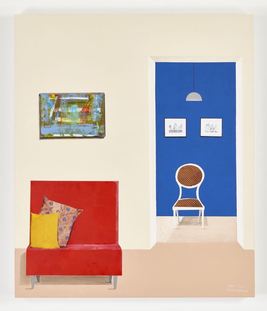 Sam Nhlengethewa 'Red Chair', 2020 via goodman-gallery.com