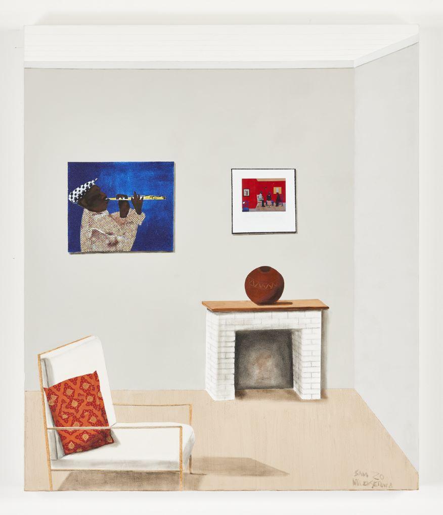 Sam Nhlengethewa 'The Fire Place', 2020, via goodman-gallery.com