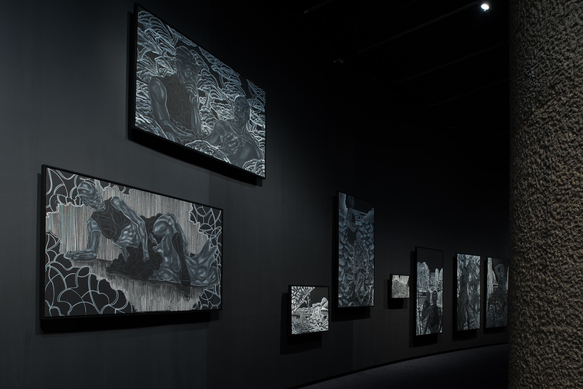 Toyin Ojih Odutola's A Countervailing Theory, 2020 Installation view