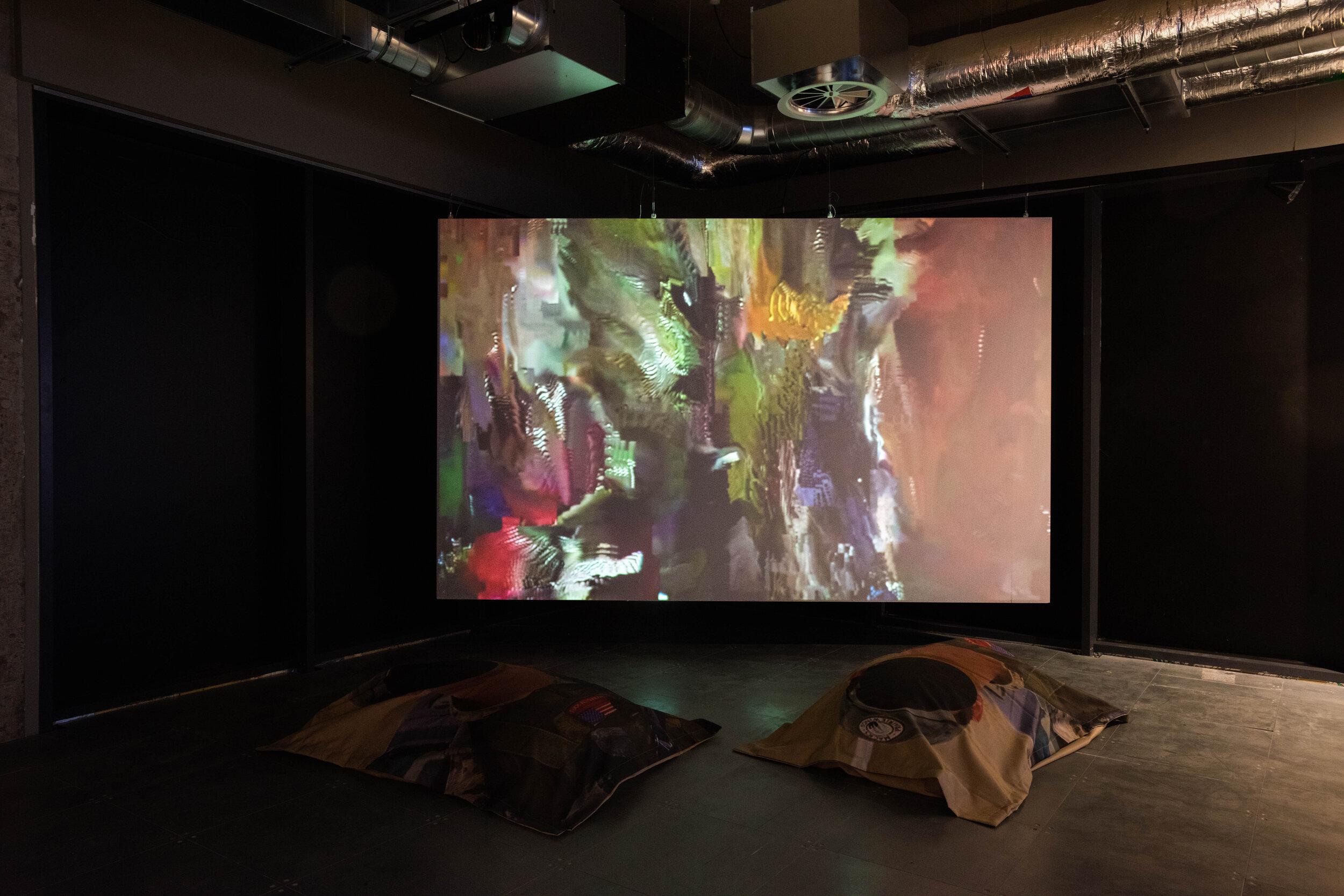 Installation view: 'Powerplay'. Image via vincentbezuidenhout.com.