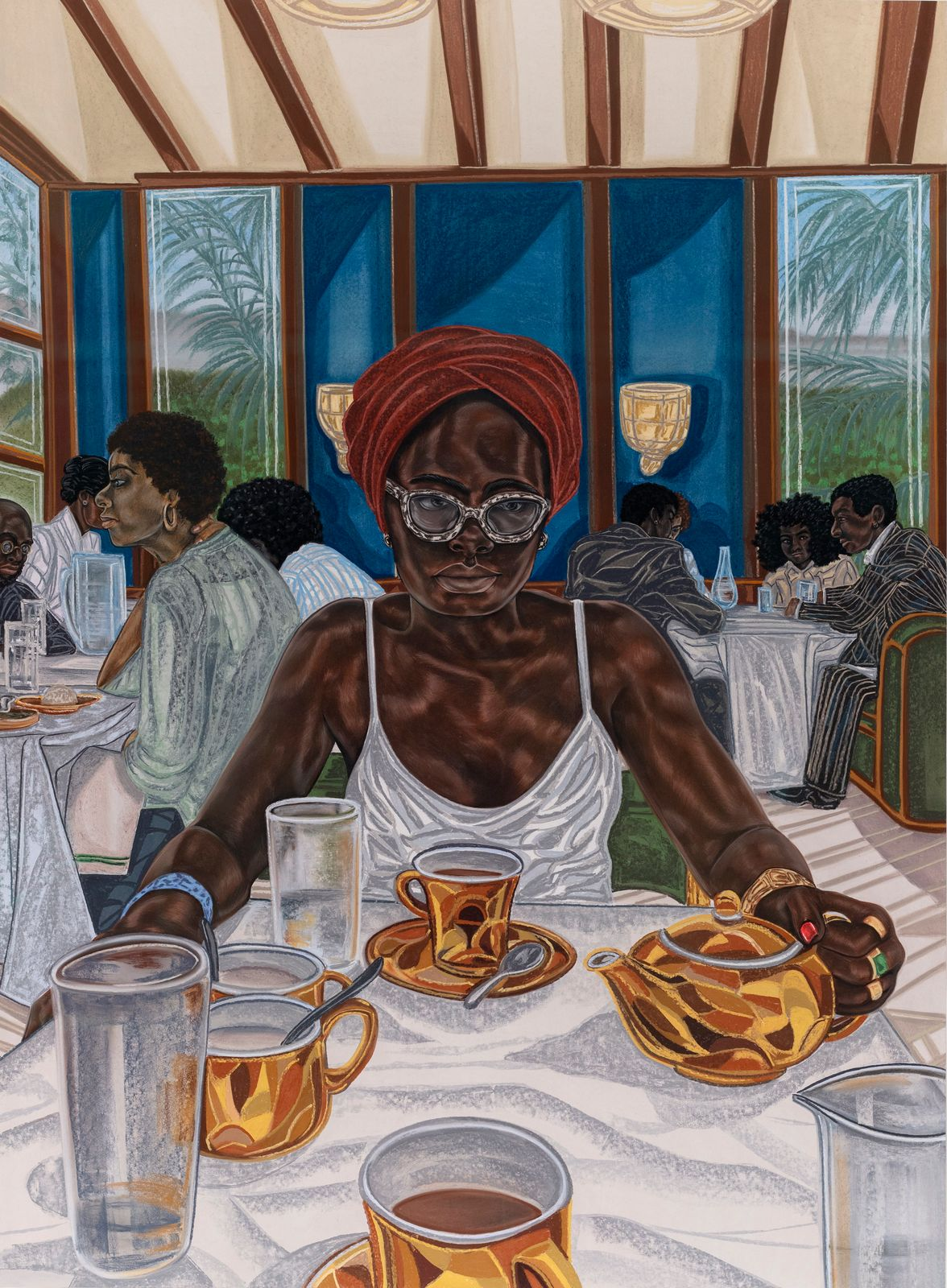 Toyin Ojih Odutola, What Her Daughter Sees (2018)