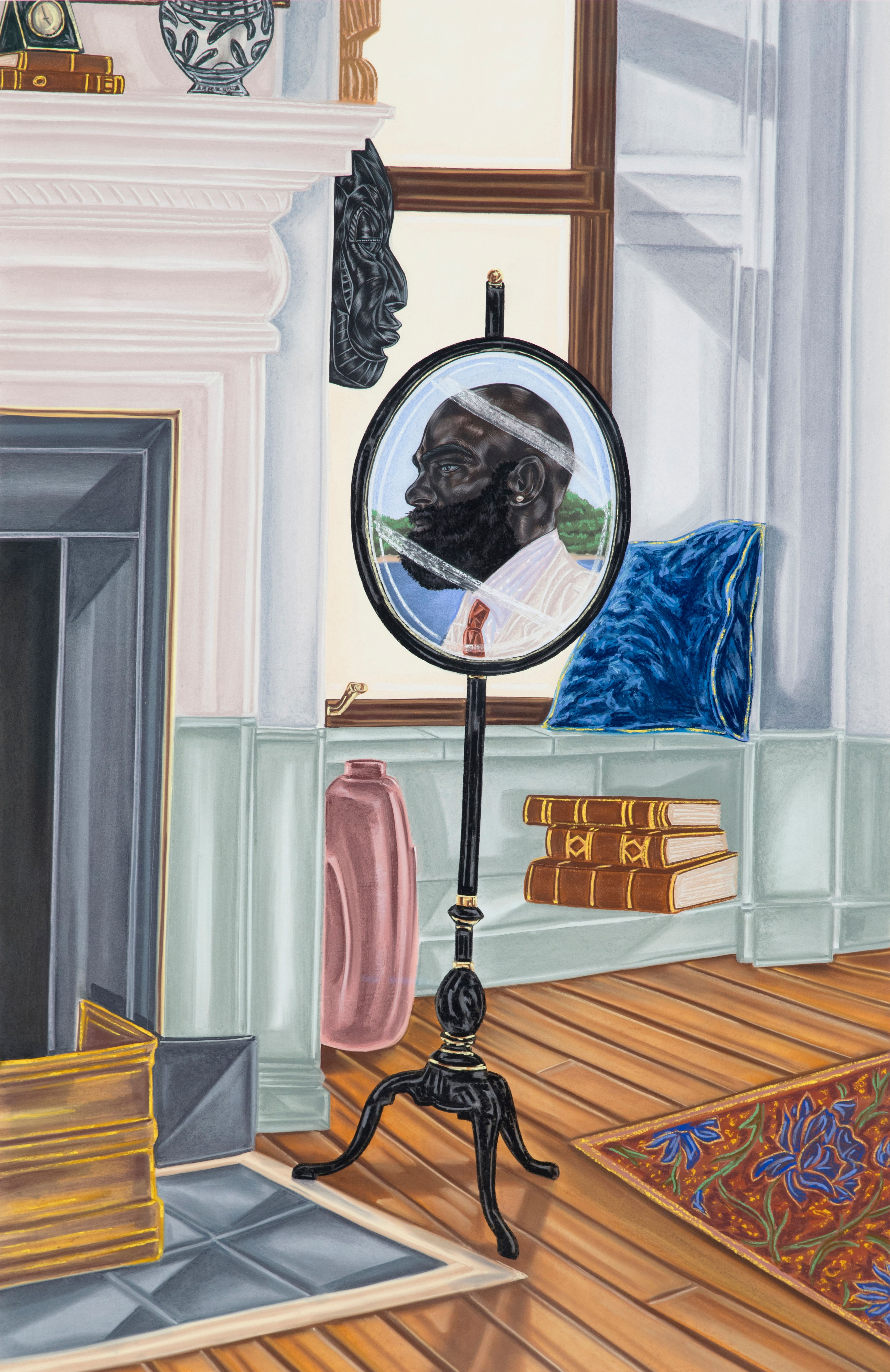 Toyin Ojih Odutola, The Privilege of Placement (2017)