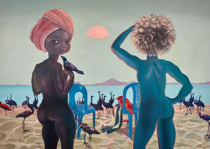 "Ndidi Emefiele, ""They came to see God"", 2020. Courtesy of Gallery Rosenfeld"
