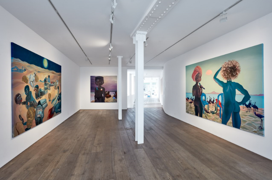 "Installation View: Ndidi Emefiele, ""Here as in Heaven"", 2020. Courtesy of Gallery Rosenfeld."