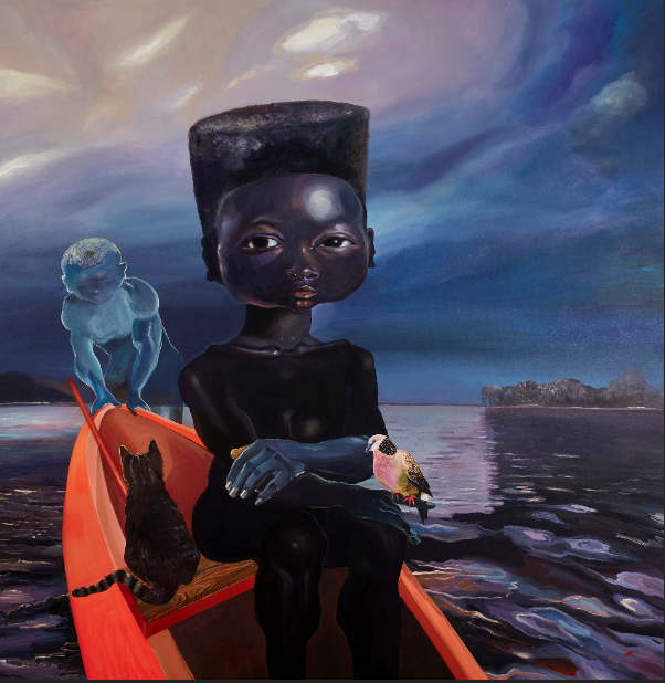 "Ndidi Emefiele, ""Sail Me Down Deep River"", 2020. Courtesy of Gallery Rosenfeld."