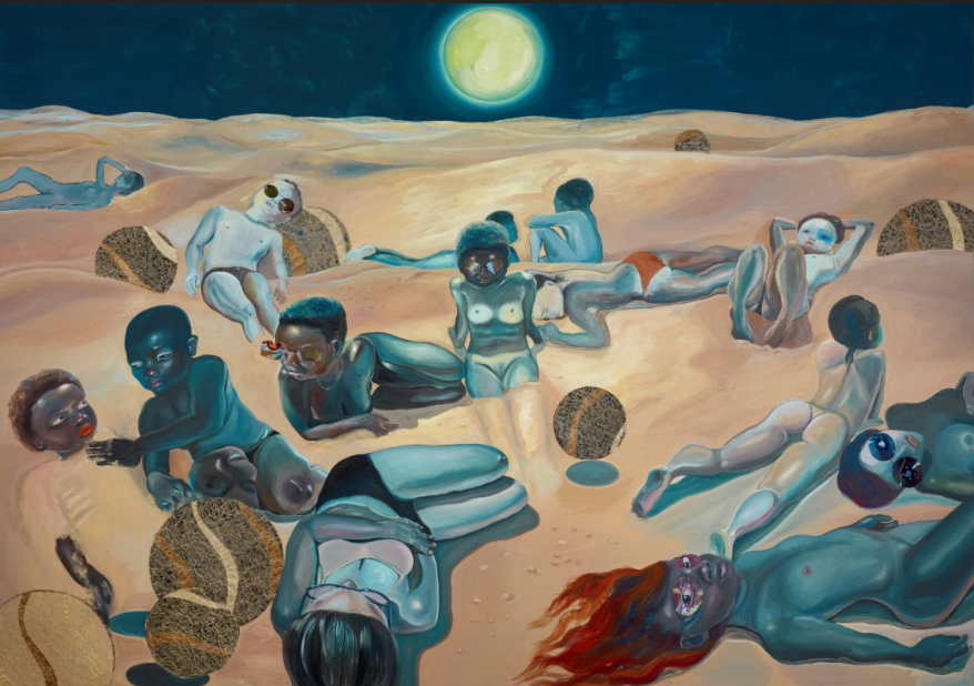"Ndidi Emefiele, ""Rehearsing Death"", 2020. Courtesy of Gallery Rosenfeld"
