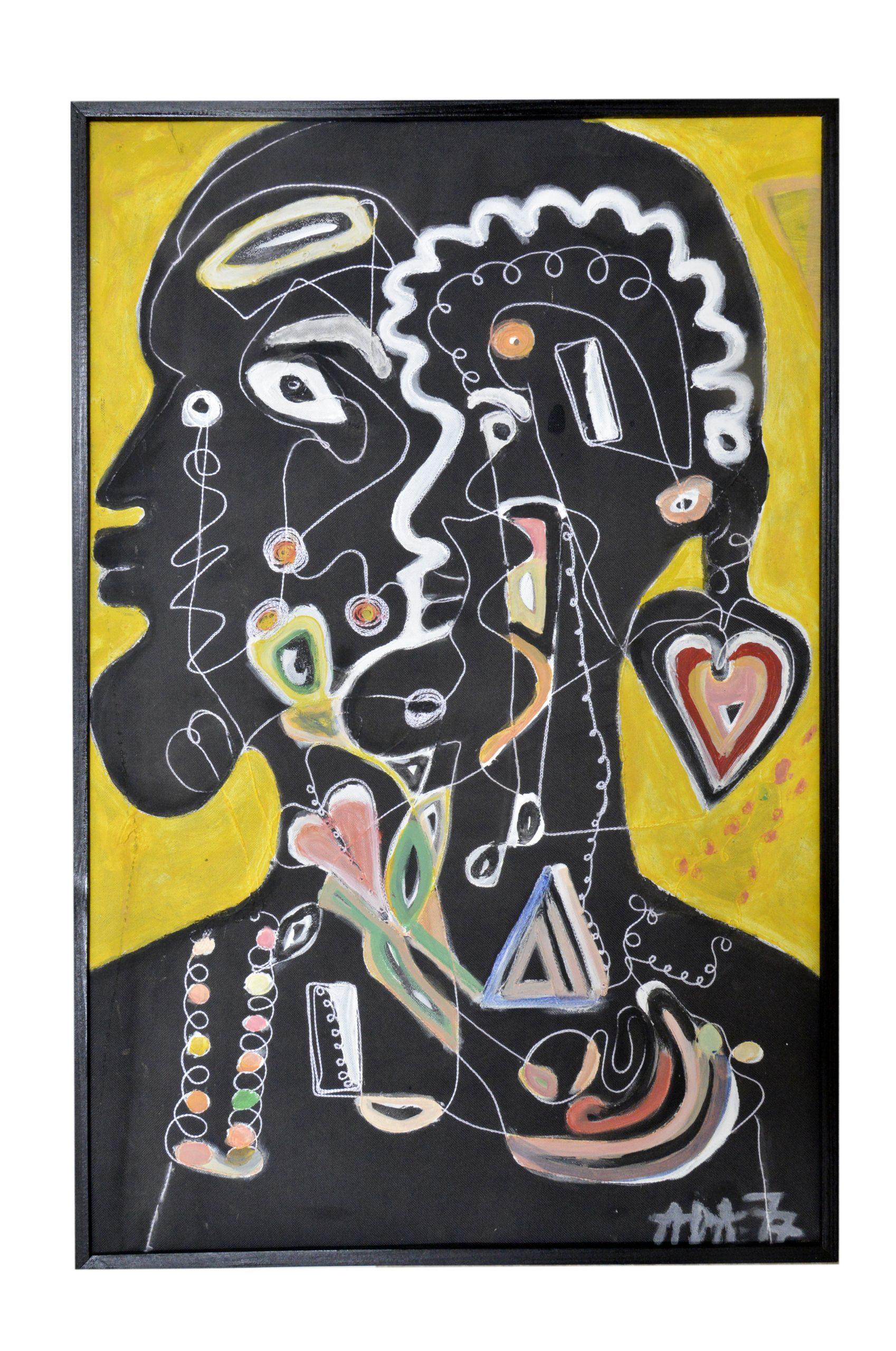 "Alioune Diouf, ""Père et fils"", 2020. Courtesy of Selebe Yoon"
