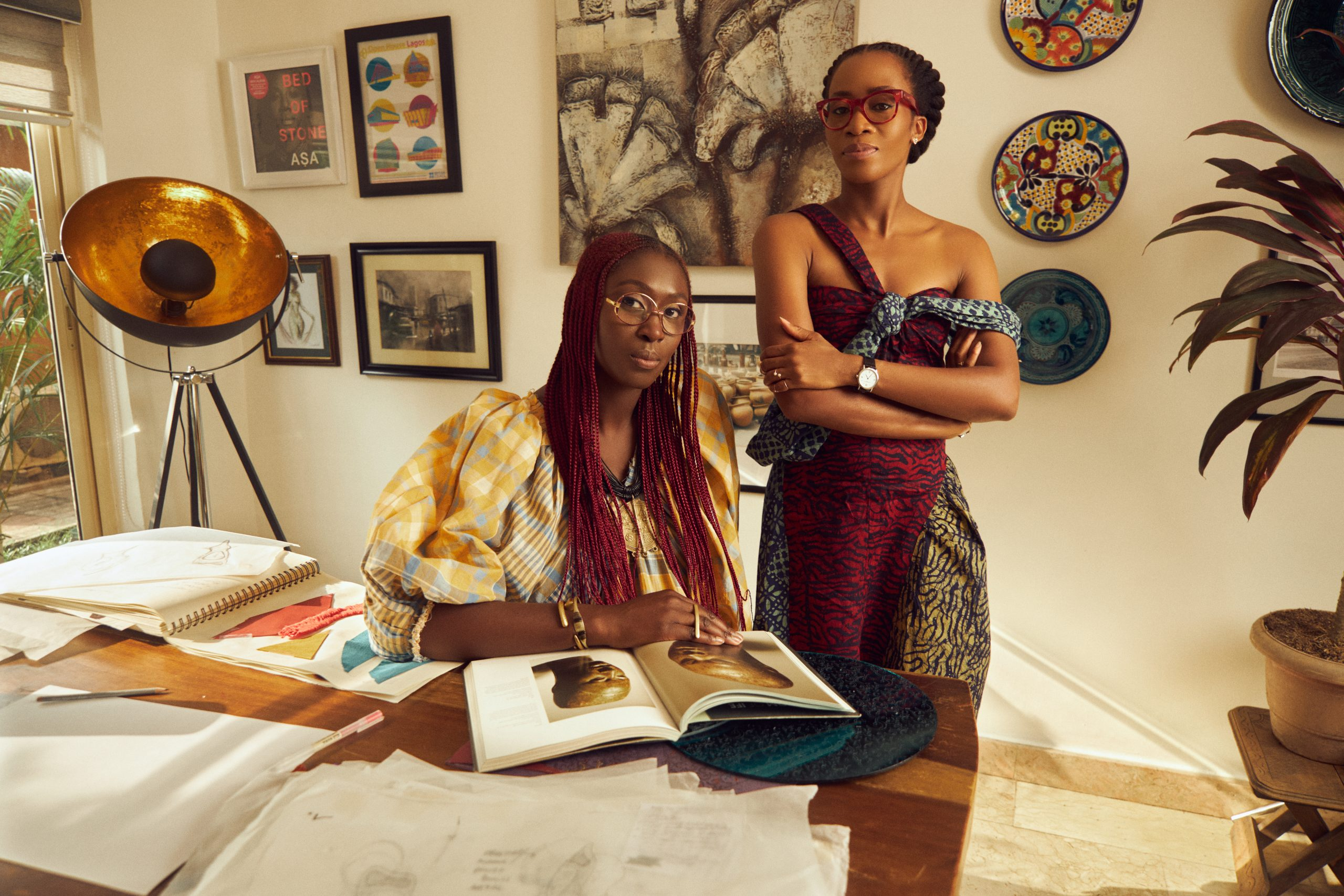 Chrissa Amuah and Tosin Oshinowo at Design Miami/ photo by Spark Creative.​