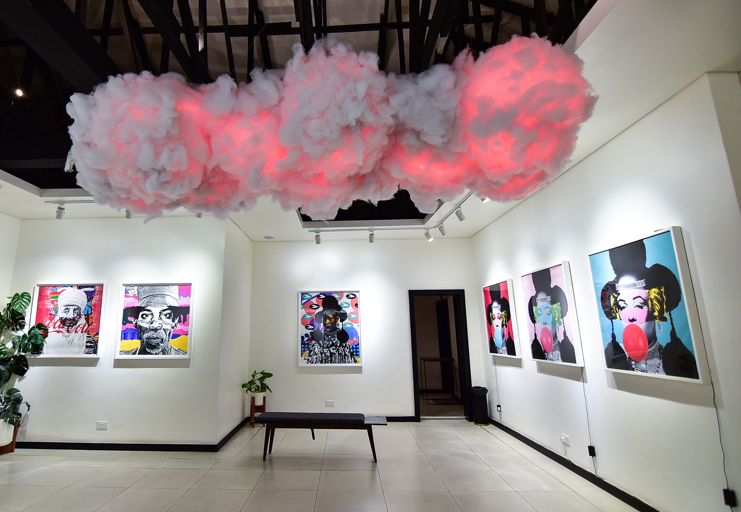 Installation view of Hyperflux exhibition by Williams Chechet. Courtesy of Retro Africa