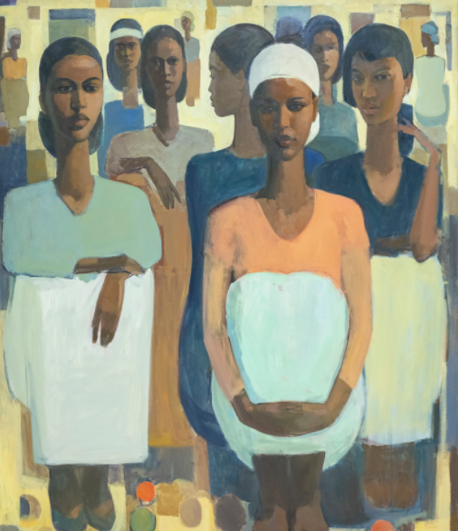 "Tadesse Mesfin, ""Pillars of Life: Courage III"", 2020. Source: addisfineart.com"