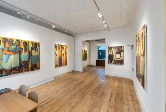 "Installation View: Tadesse Mesfin, ""Pillars of Life"", 2020 at Addis Fine Art, London"