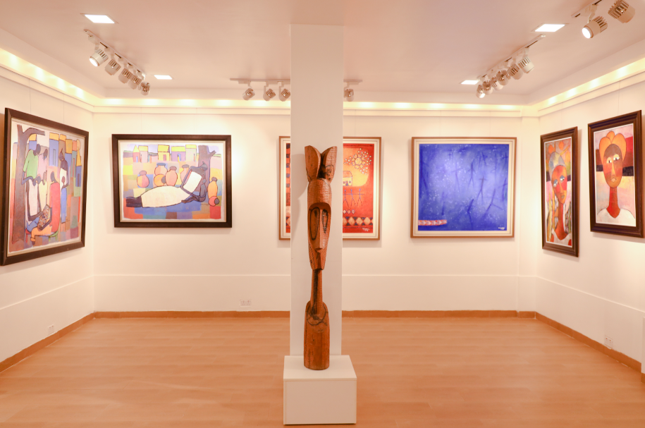 """Installation View: """"The Opening"""", 2020. Courtesy Affinity Art Gallery"""