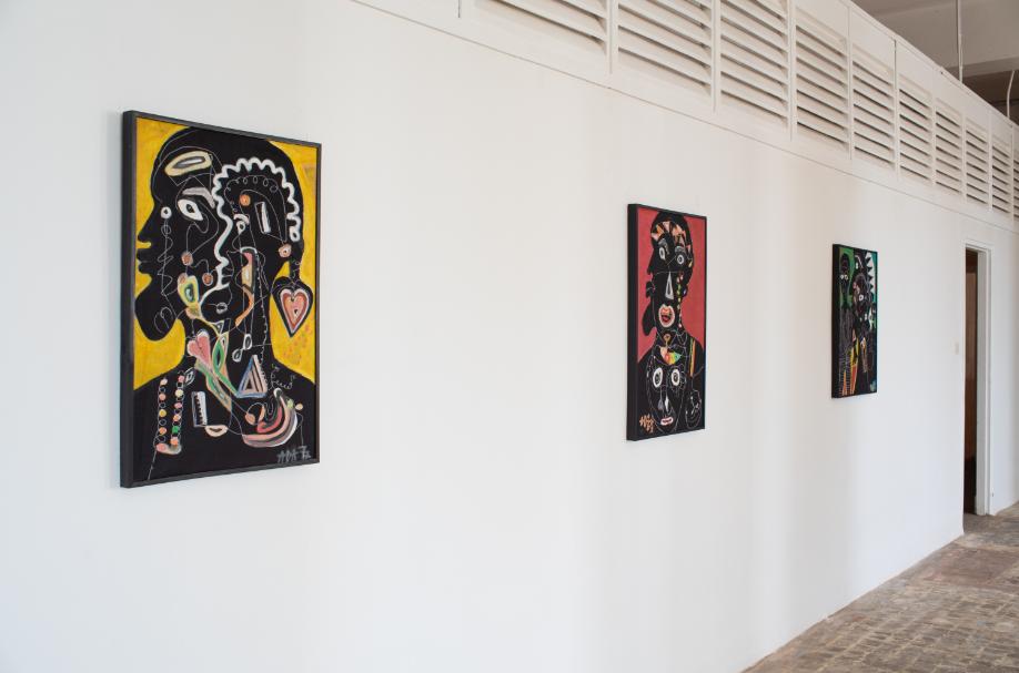 "Installation View: Alioune Diouf, ""Ubeku (Ouverture)"" 2020, Courtesy of Selebe Yoon"