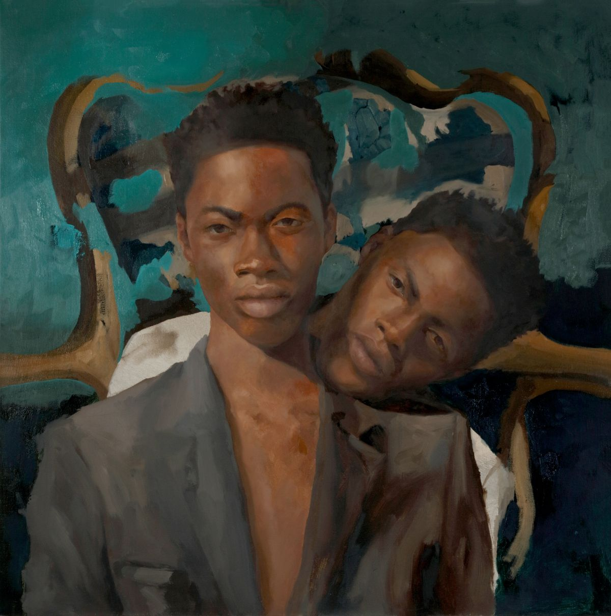 "Xavier Daniels, ""We Wonder as I Wander"", 2020, oil on canvas. Courtesy of Richard Beavers Gallery"