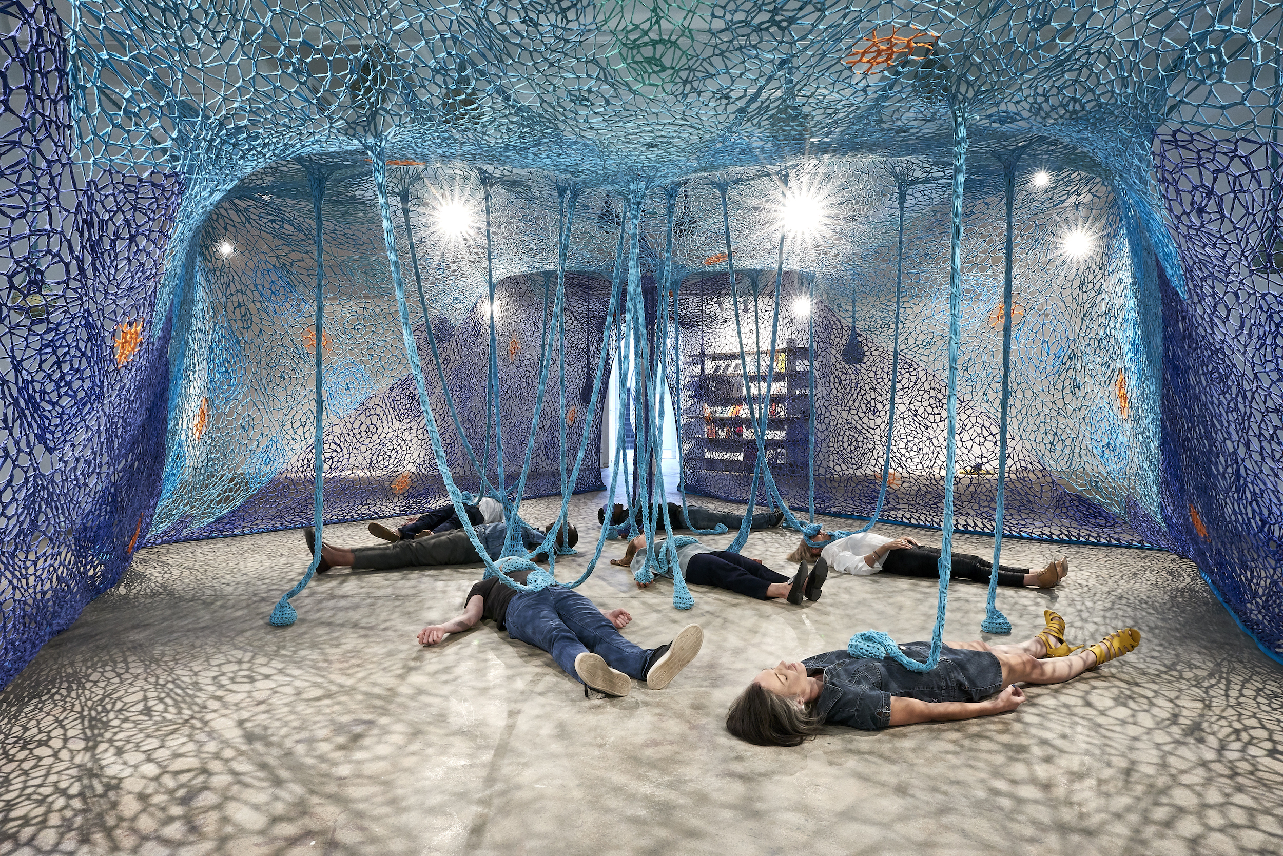 African Art World - Ernesto Neto, One Day We Were All Fish and The Earth's Belly, 2019. Courtesy of Goodman Gallery and South South