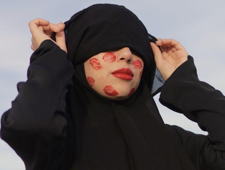 Fatima Zohra Serri, Red Flags (2020), inkjet print on satin paper. (c) Fatima Zohra Serri / Courtesy of Òlàjú