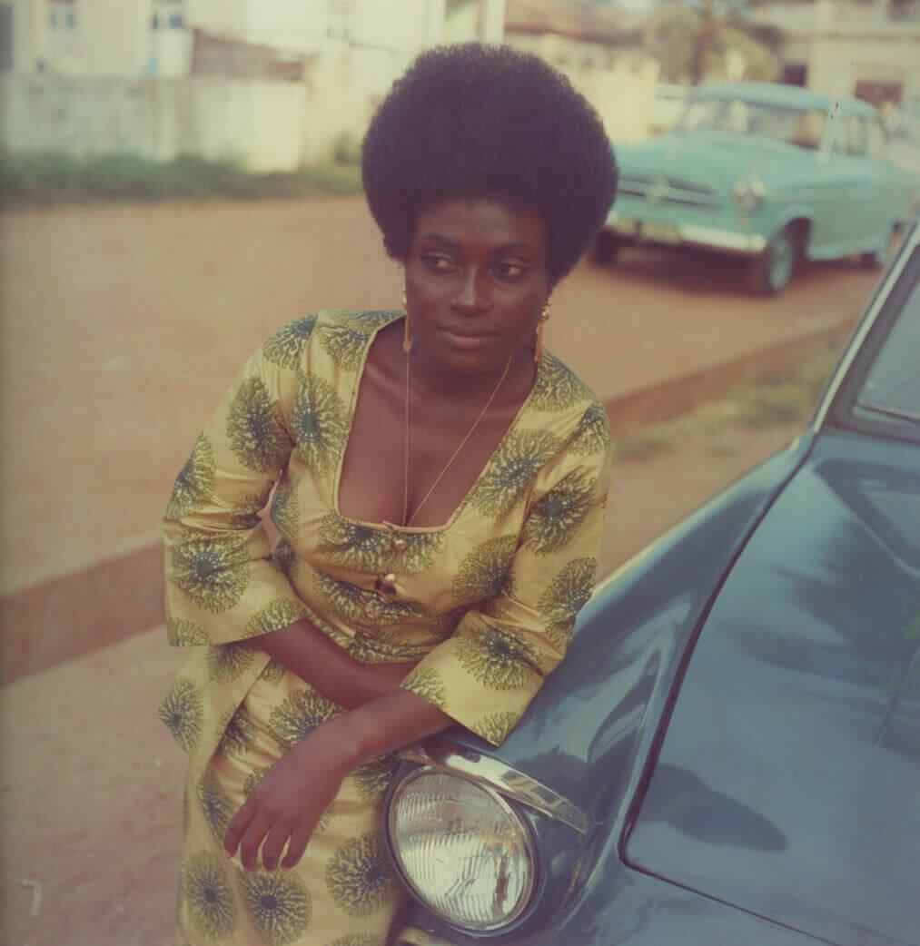 James Barnor , 'Miss Sophia Salomon', Accra, circa 1972. Courtesy of PIASA