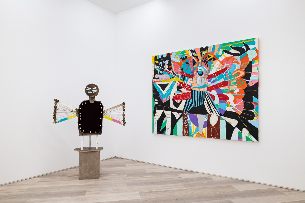 """Installation view of """"THE POWER AND THE PAUSE"""", 2021. Courtesy of BEERS London."""