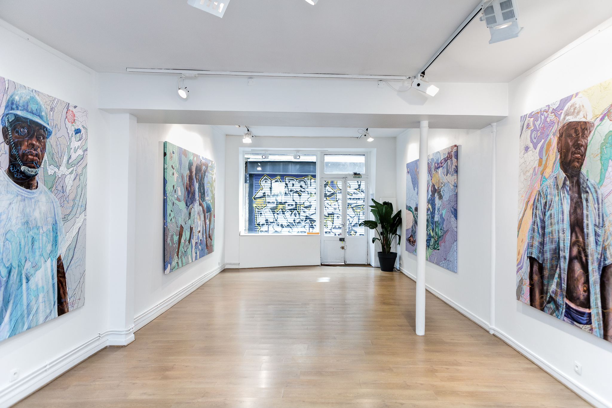 Installation view of Human@Condition, 2021. Courtesy of AFIKARIS Gallery