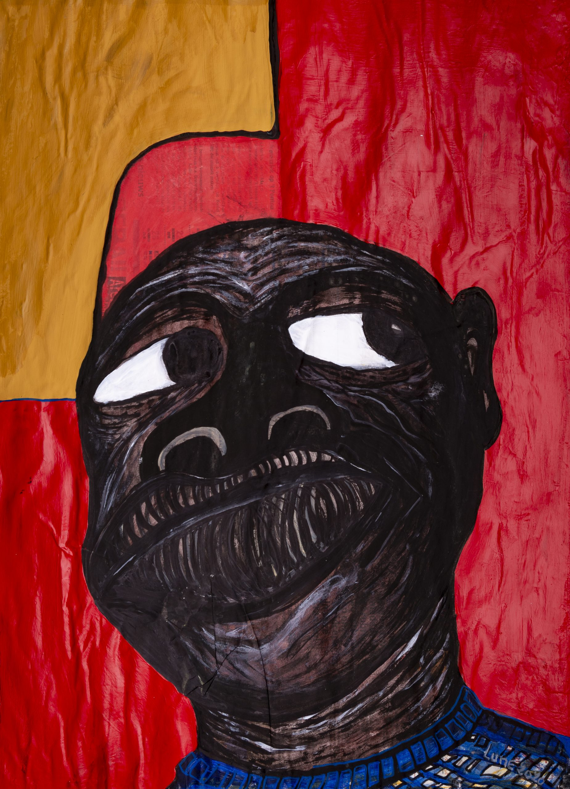 Lune Diagne, 'Ancien Combattant #2', 2020, Mixed media on paper. Courtesy of OH GALLERY and the artist