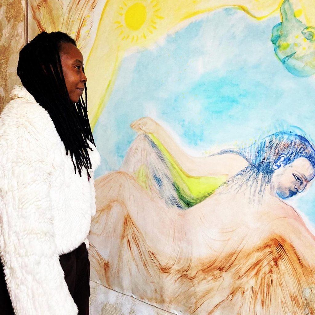 Obi Okigbo in her studio 2021. Courtesy of the artist