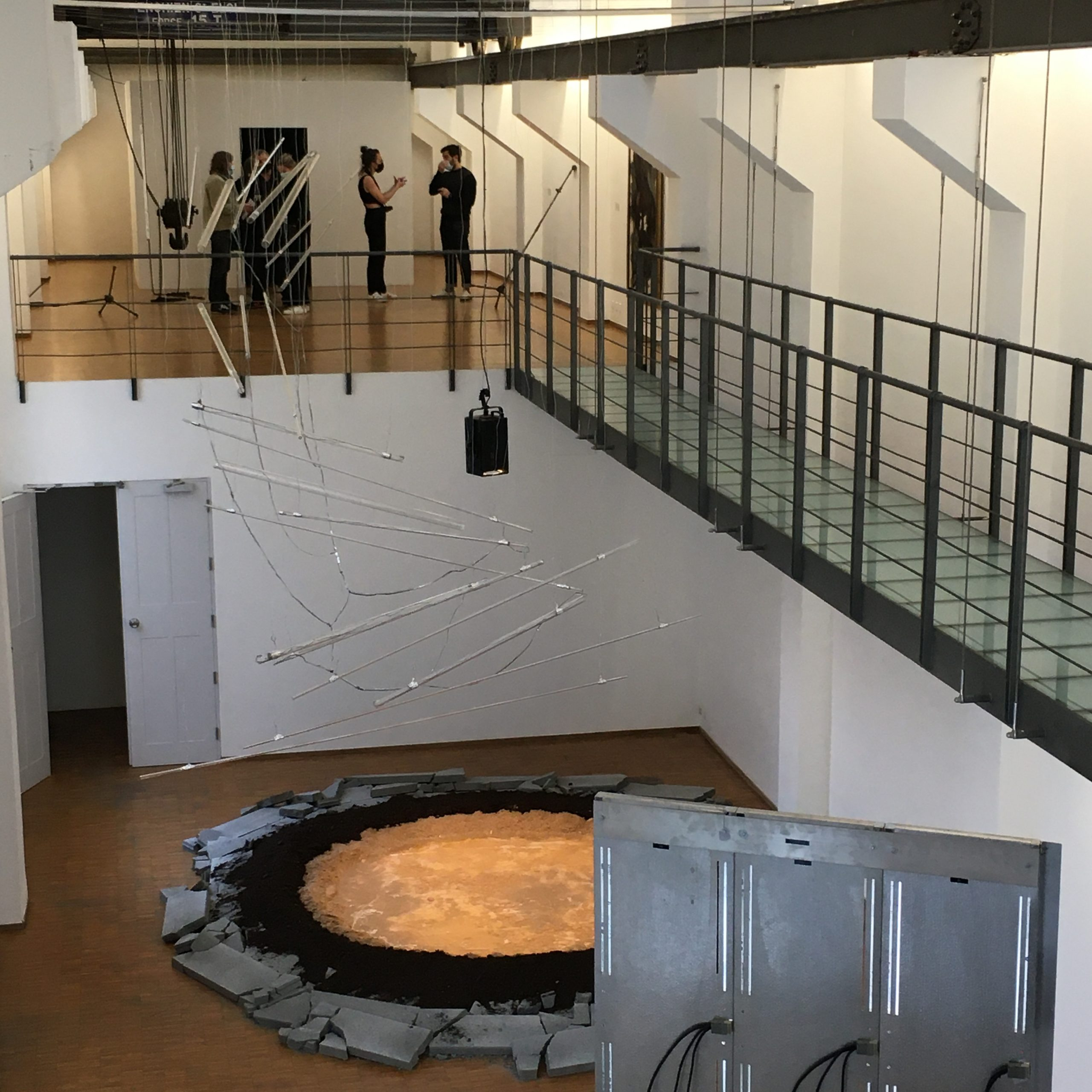 """View of Obi Okigbo's installation at the exhibition """"Les Orages"""" at ISELP, Bruxelles, showing April-June 2021. Courtesy of the artist"""