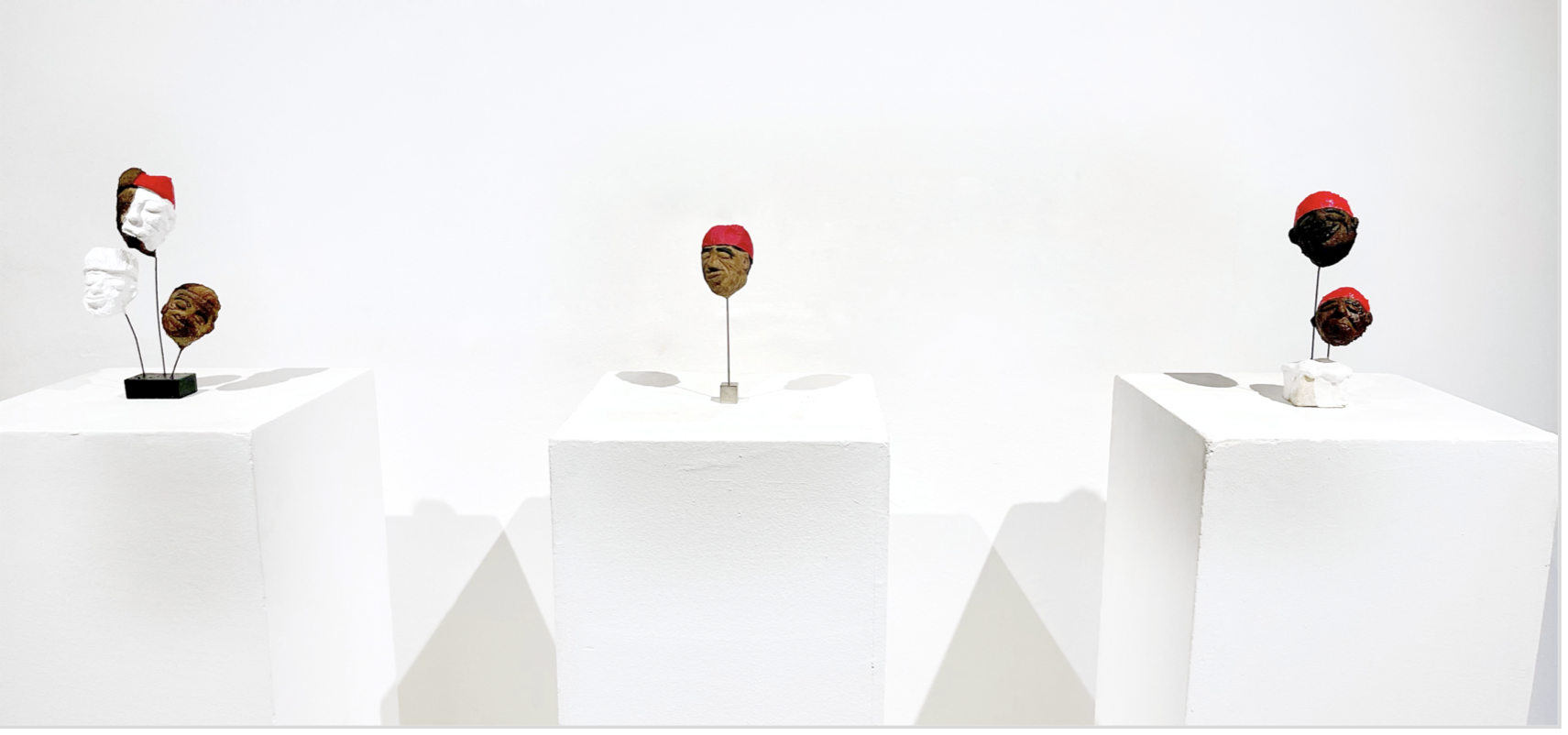 Installation View: Lune Diagne, 'Soul Brothers' 2021. Courtesy of Le Manège and OH GALLERY / Artworks © The artists / Photography © Khalifa Hussein