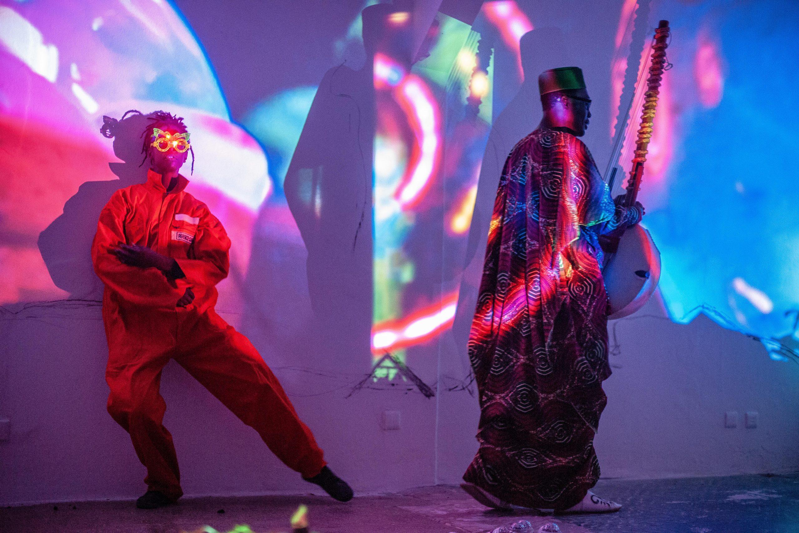 "Afropixel 2018 - ""Digital Imaginaries"" - Marcus Neustetter performance. © Elise Fitte-Duval"