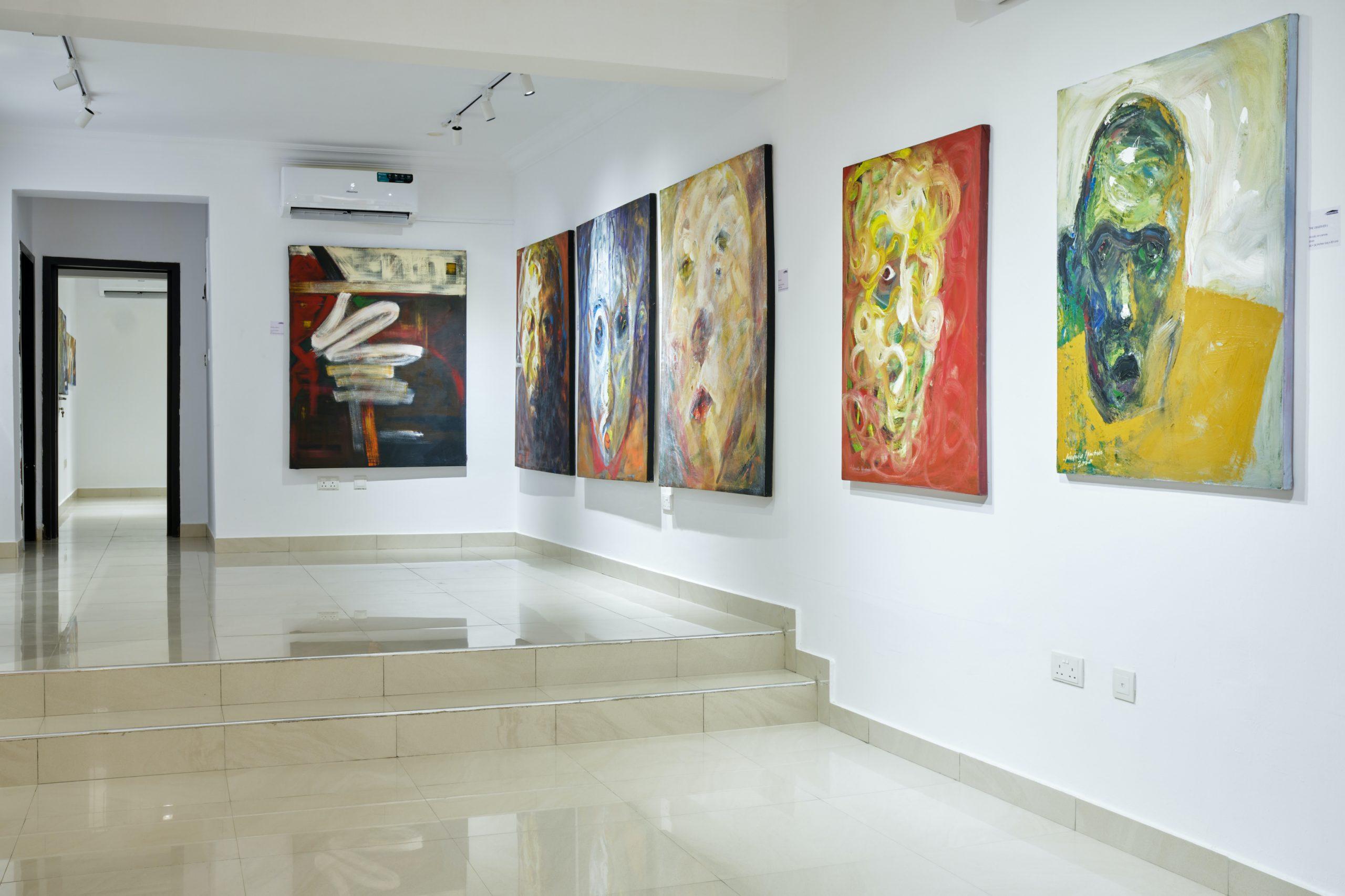 Installation view of State of Mind by Adeyinka Akingbade at Art Pantheon in Lagos. Photo credit: Alli Akinwande / Courtesy of Art Pantheon