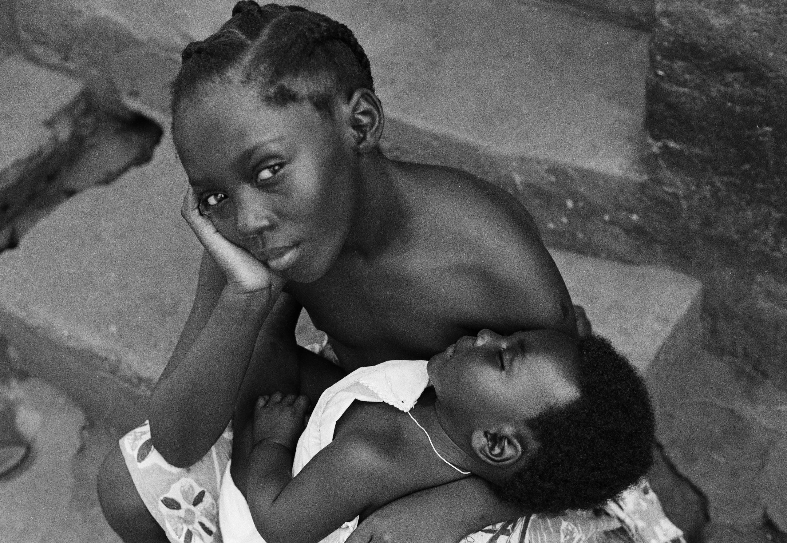 Photo: Sister holding Brother, Accra.