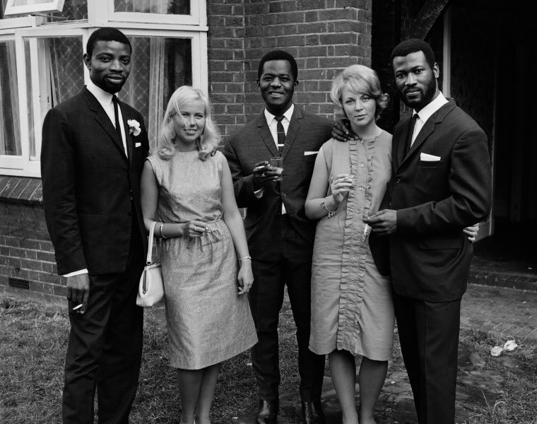 Date: c.1966 Caption: A group of friends photographed during Mr. And Mrs Sackey's wedding, London.