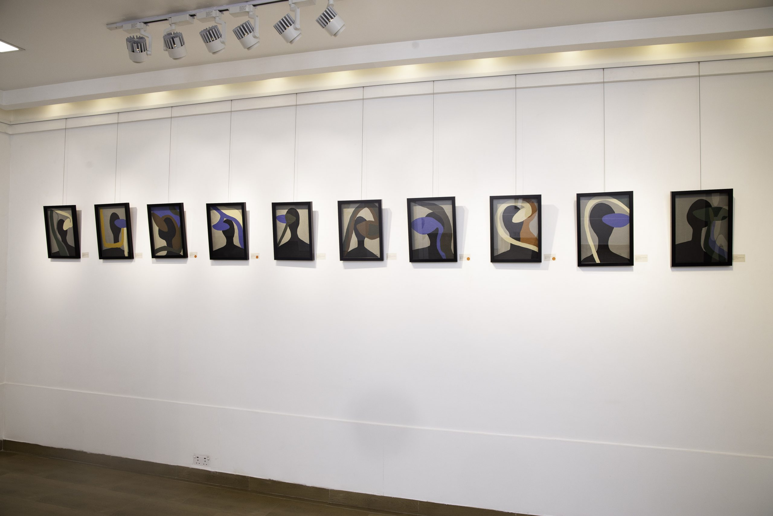 Installation view: 'A Vernacular Homage to Architecture and Design' (2021) at Affinity Gallery, Lagos