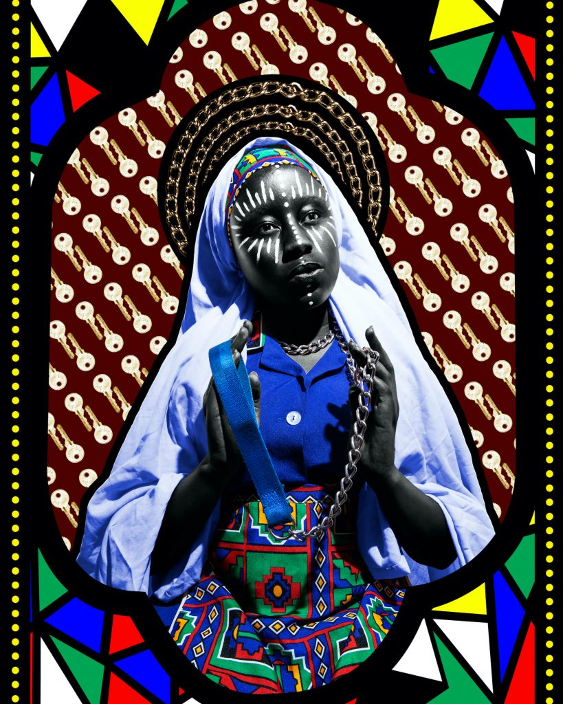 Our lady of good deliverance by Lebo Thoka. Courtesy of AKKA Project and David Krut Projects