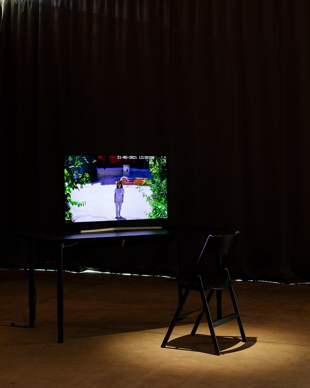 Hanin Tarek, 'Are You Still Watching?', 2021 ('Hotel Sahara' at Magasins généraux, Pantin − Grand Paris, 2021), Photo by Tadzio, Copyright: Hanin Tarek & Magasins généraux